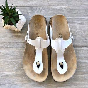 Birkenstock Gizeh Sandals, Cork Buckle Thong Shoes